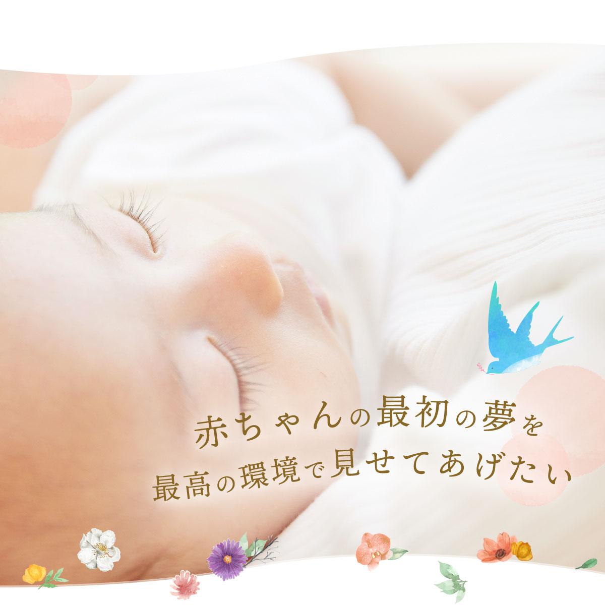 赤ちゃんの最初の夢を最高の環境で見せてあげたい